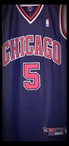 NBA Authentic Jalen Rose Chicago Bulls Pro Jersey